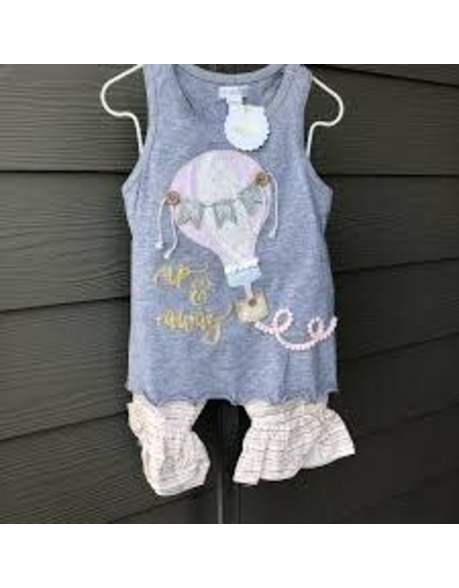 Mud Pie Hot Air Balloon Tunic Capri Set-4T