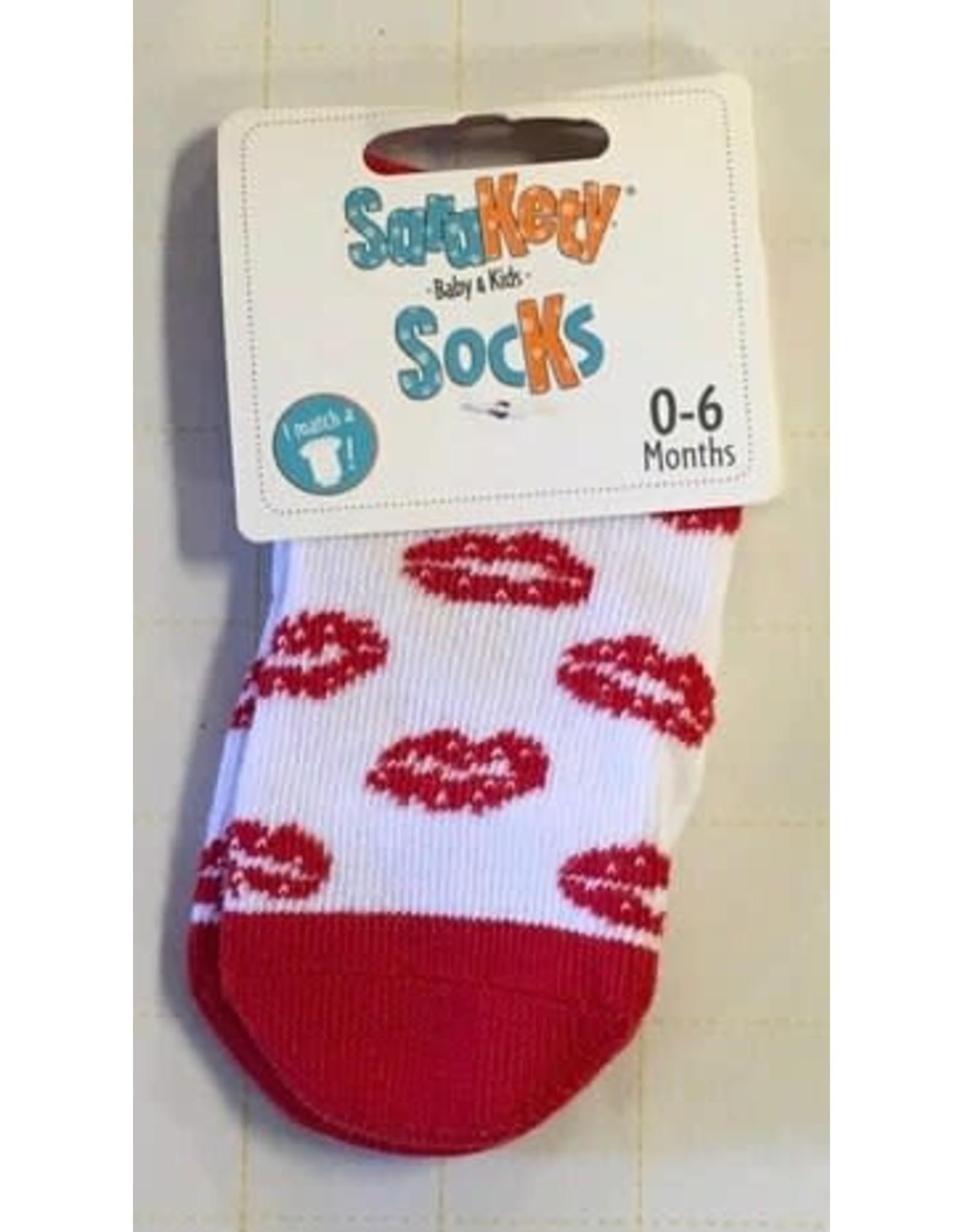 Sara Kety LLC Kisses Socks 0-6M