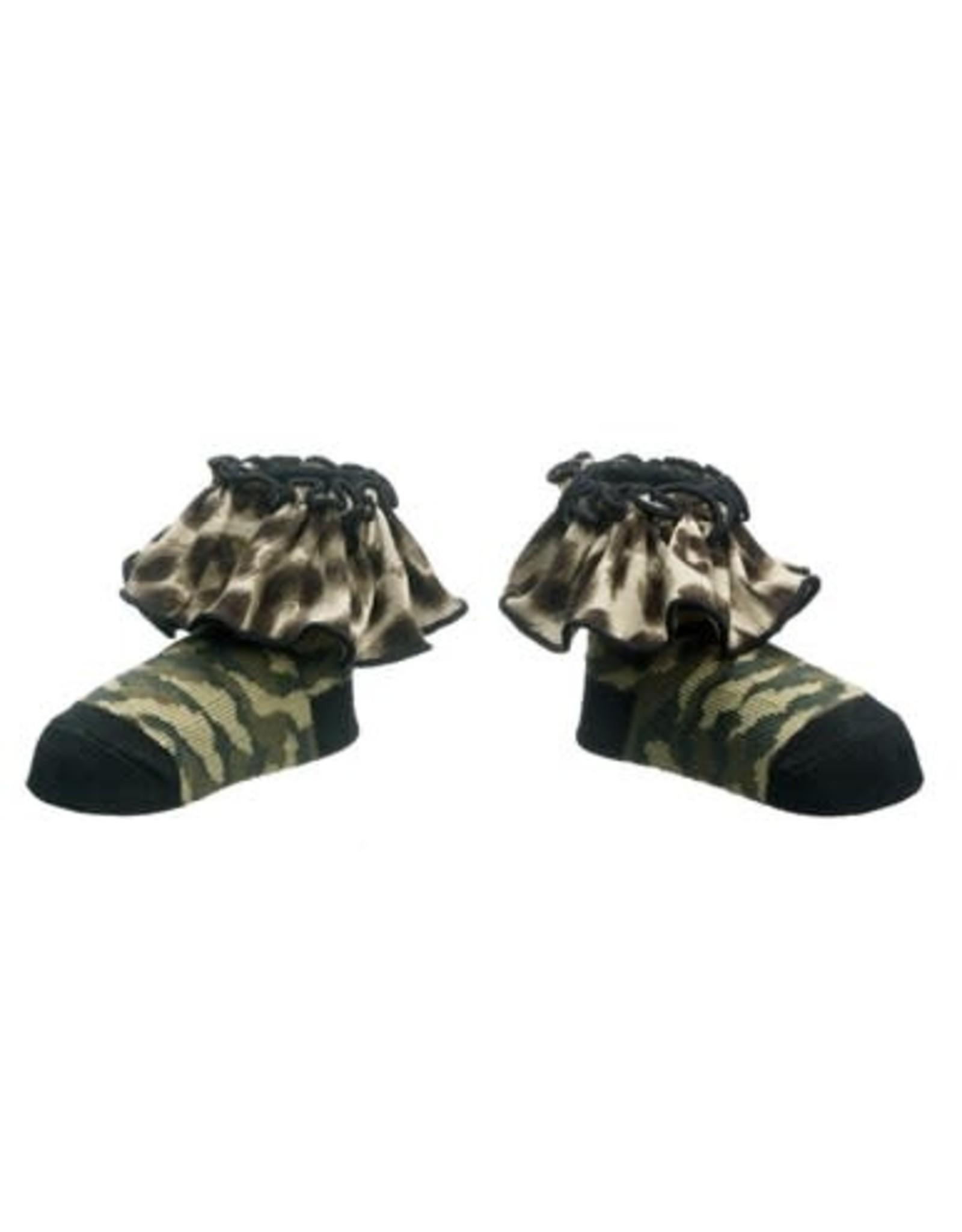 Ganz USA LLC Camo Kid Ruffle Socks