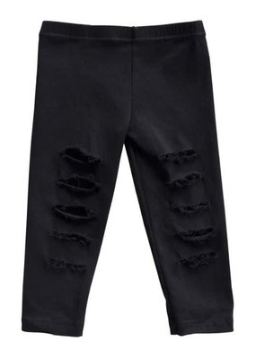 Bailey's Blossoms Roxie Slashed Jeggings-Black