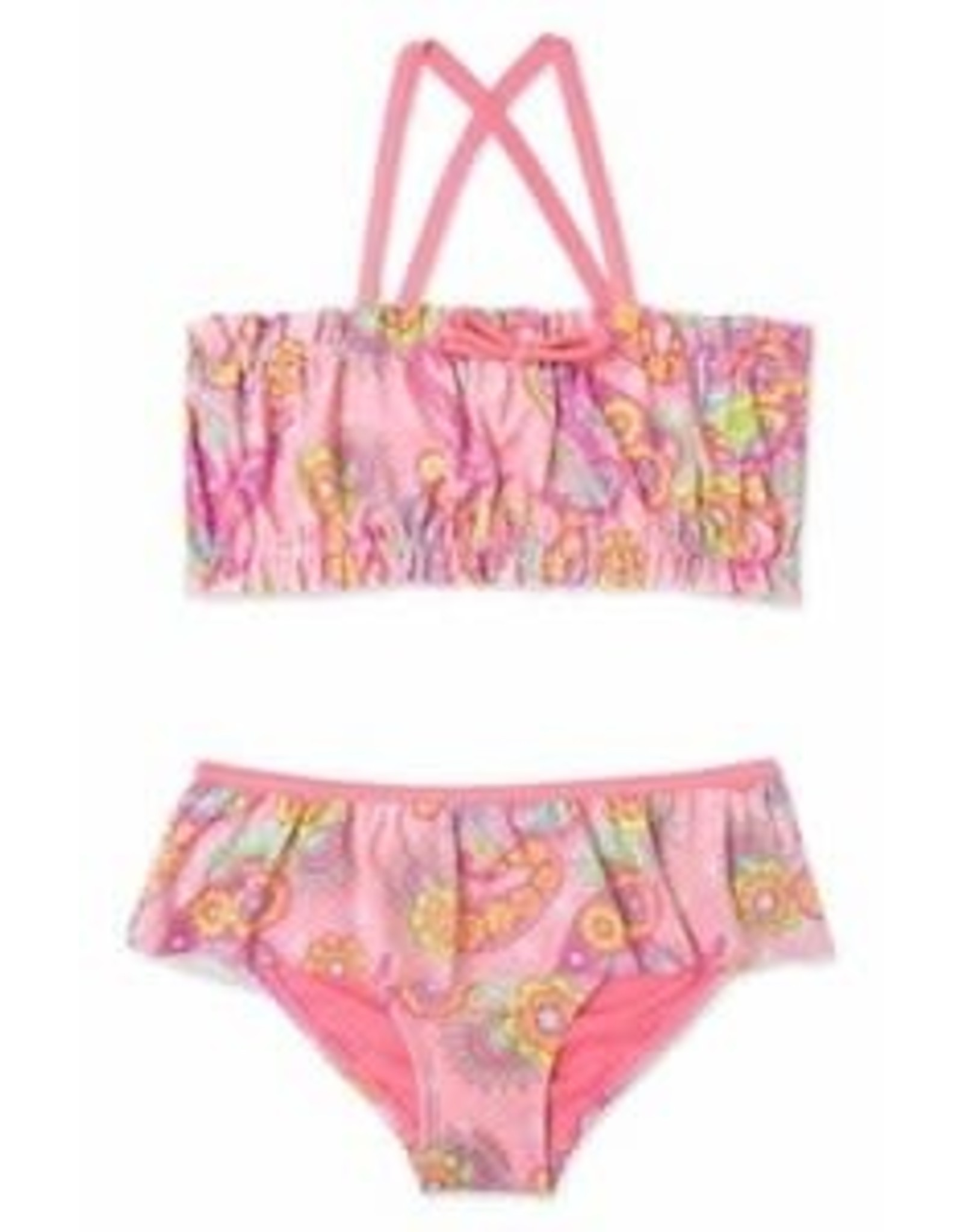 Malibu Design Group 2 Piece Paisley Print Bikini 2T