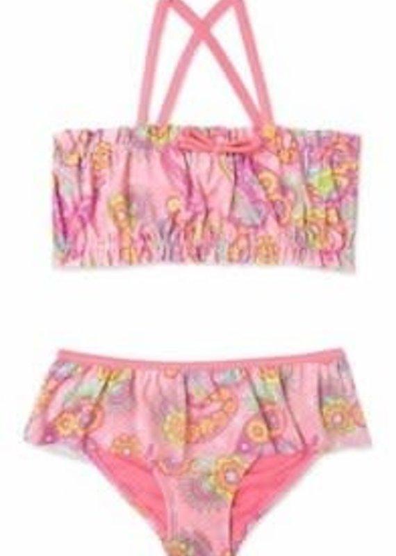 Malibu Design Group 2 Piece Paisley Print Bikini 2T