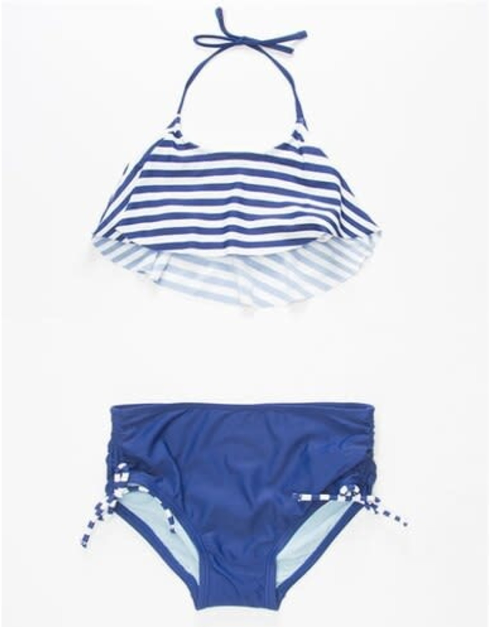 Malibu Design Group 2 Piece Navy/White Striped