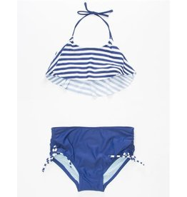 Malibu Design Group 2 Piece Navy/White Striped
