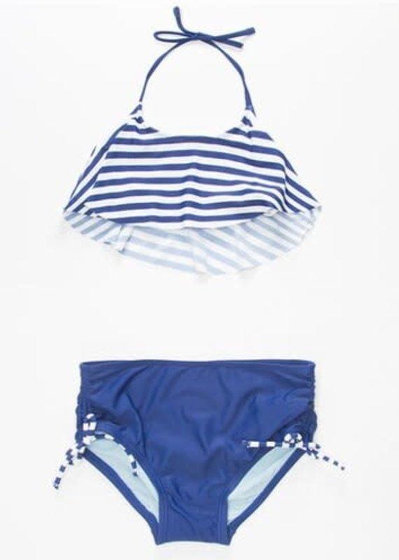 Malibu Design Group 2 Piece Navy/White Striped- 8
