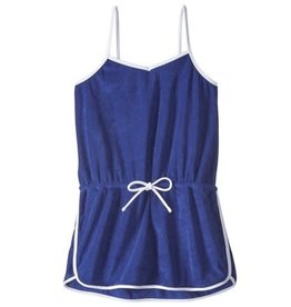 Malibu Design Group Romper Cover Up-Navy