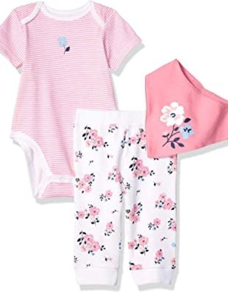 Little Me Floral 3pc Pant Set