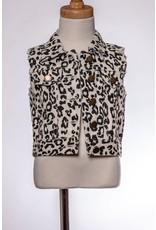 ML Kids Leopard Print Vest- Off White