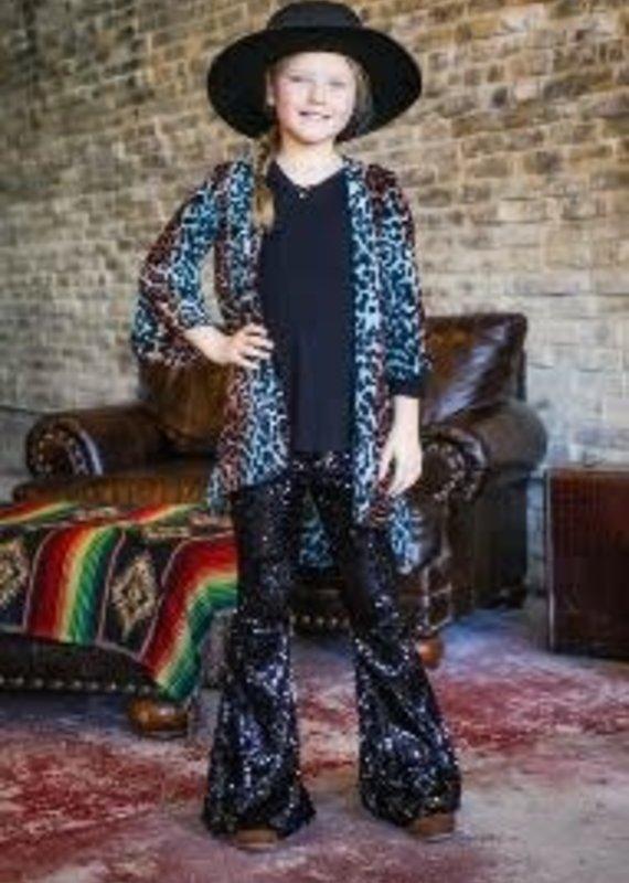 L&B Sequin Flare Pants - Black