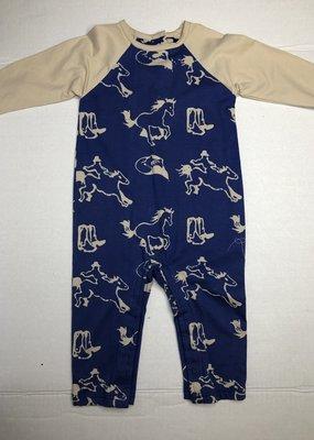 Coconut Creations Boys Blue Rodeo Raglan Longall- 24 M