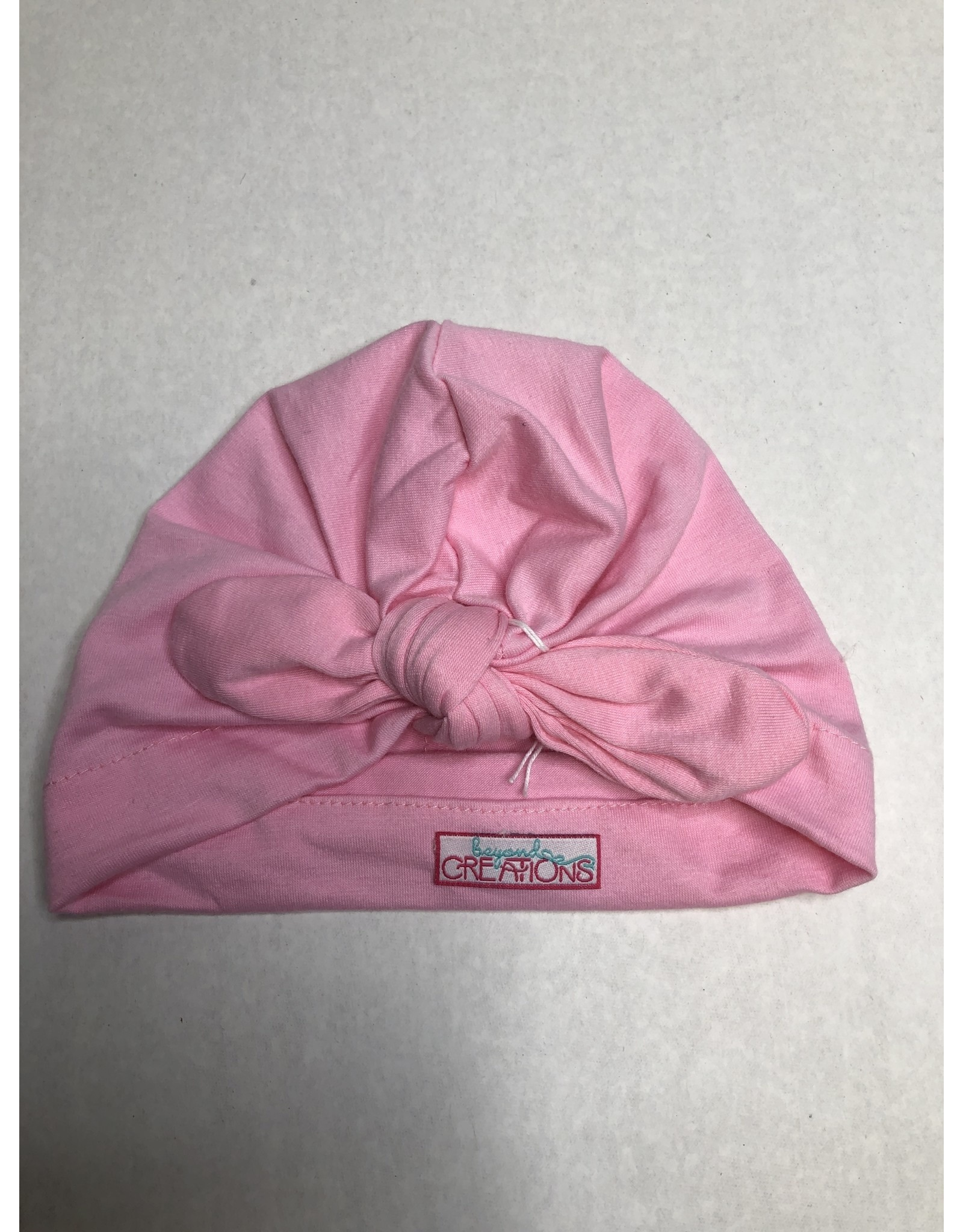 Beyond Creations Girl's Turban Hat w Knot Bow-Bubblegum PNK