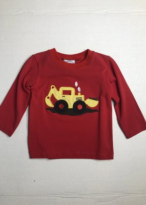 Three Sisters Backhoe Boys Applique Shirt