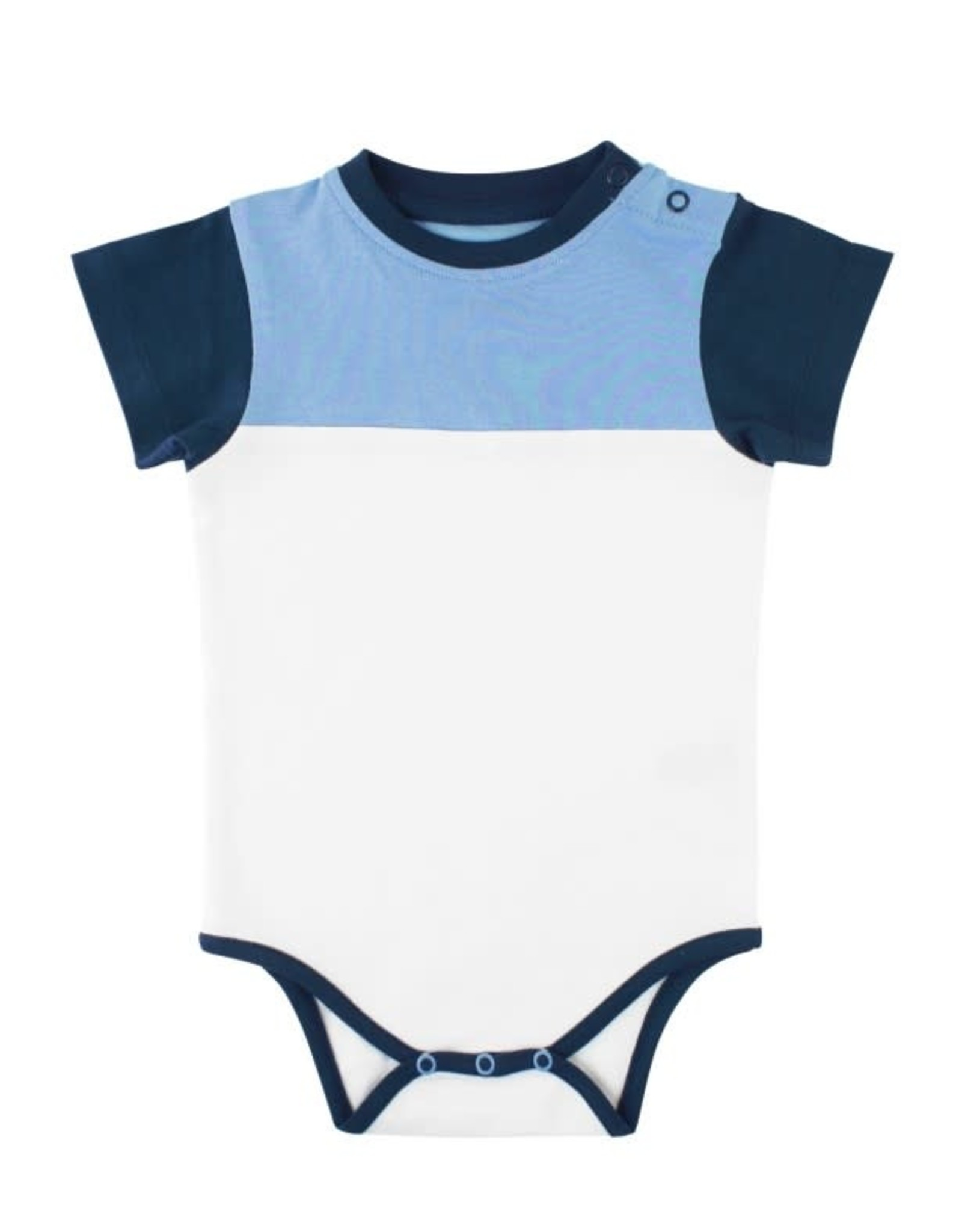 Rufflebutts Color Block Bodysuit-6/12M