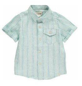 Me & Henry Striped Woven Shirt - Green/Blue