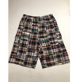 Global Tex Kids Multi Patchwork Cargo Plaid Short