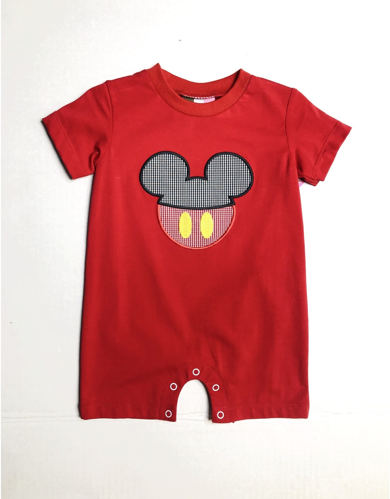 Banana Split Mouse Ears Applique Boys Romper-6M
