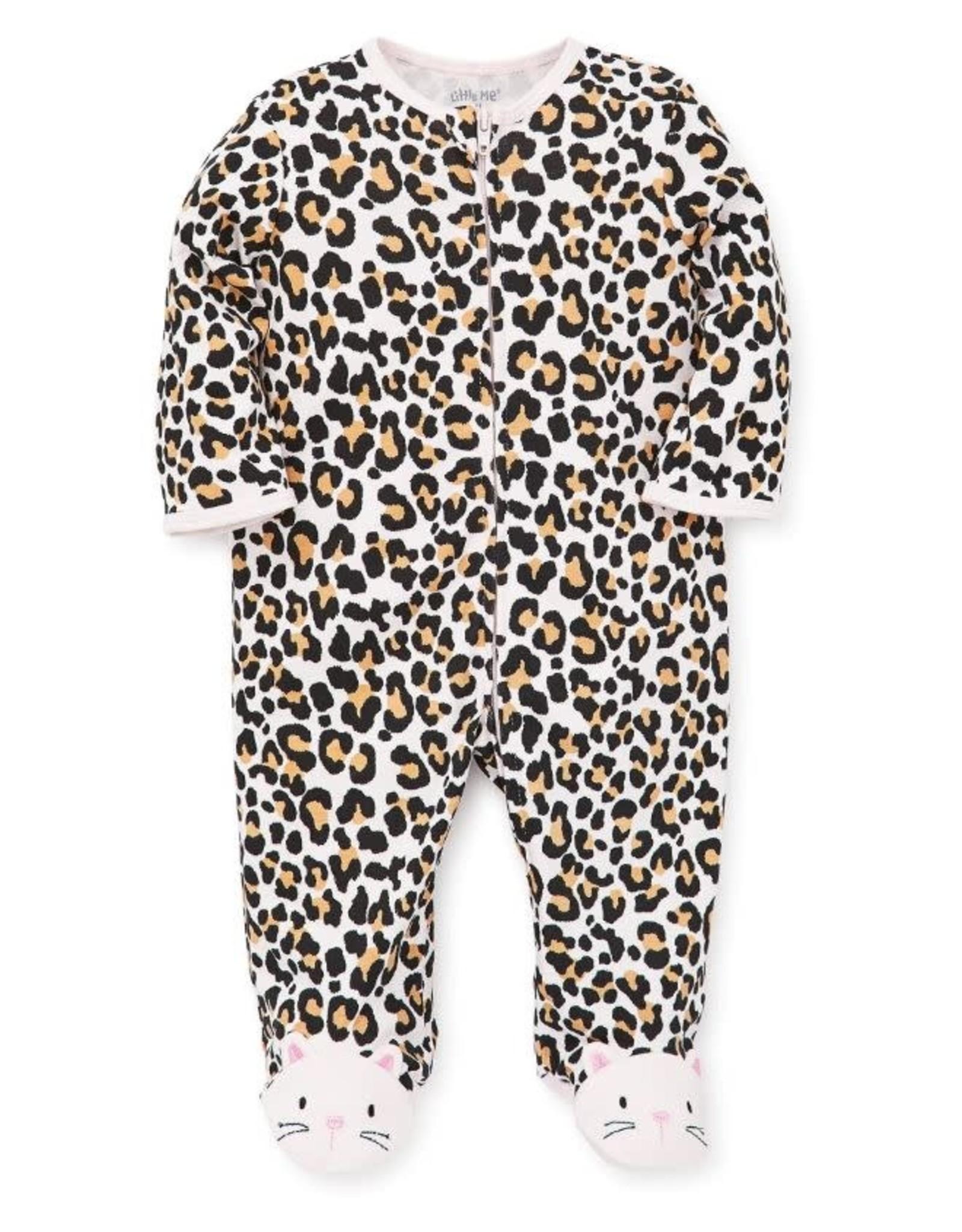 Little Me Leopard Footie-Preemie