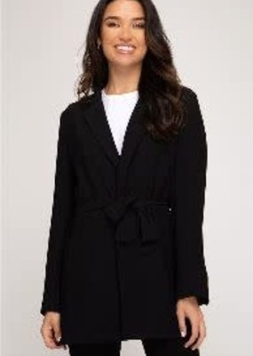 She+Sky Black Long Sleeve Blazer
