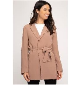 She+Sky Taupe Long Sleeve Blazer