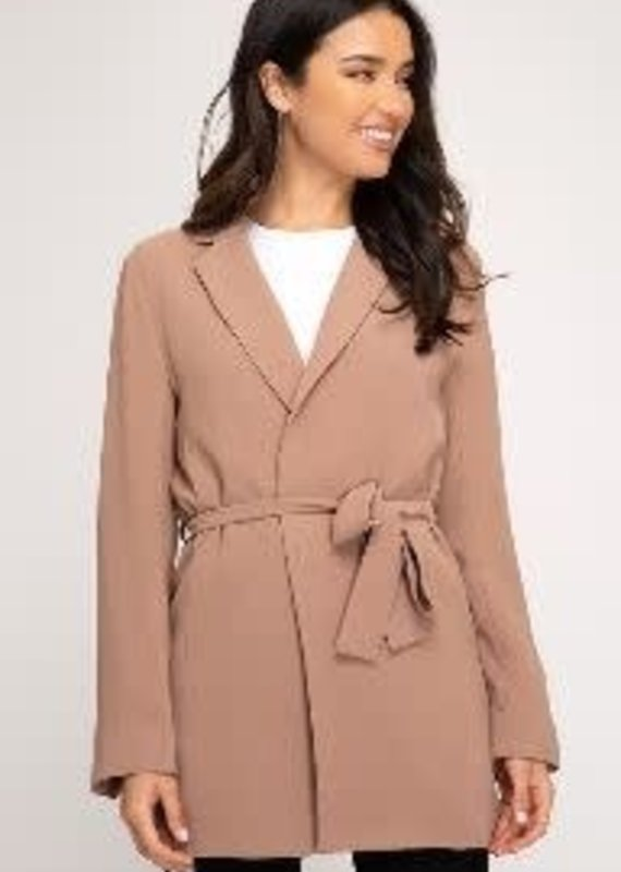 She+Sky Triple Threat Taupe  Blazer
