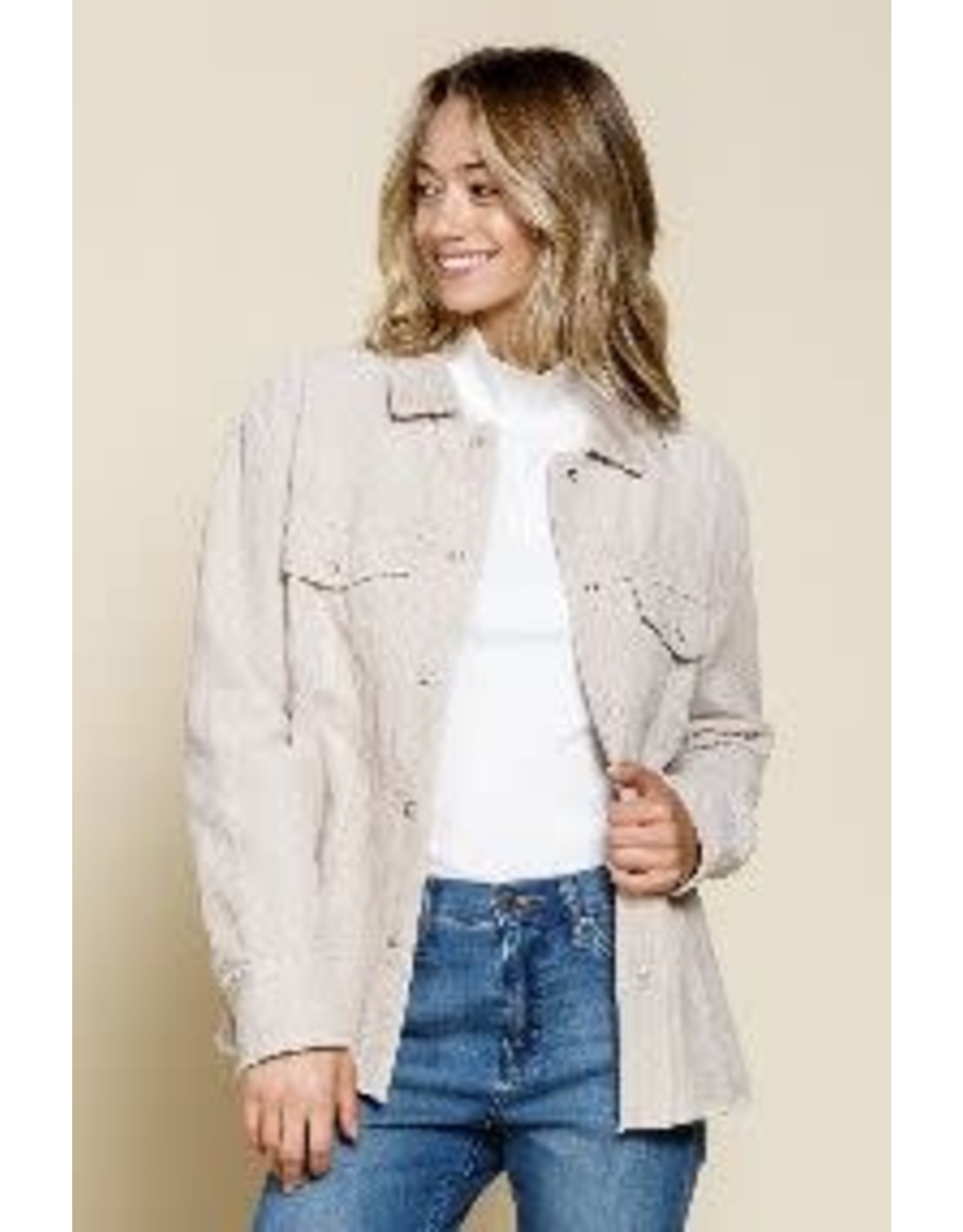 Mittoshop Corduroy Shirt Look Jacket