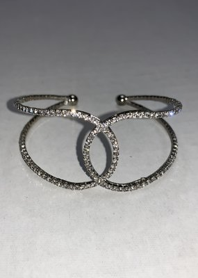Ethel and Myrtle Inc Silver Bracelet Cuff Memory