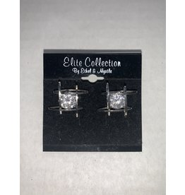 Ethel and Myrtle Inc Silver Crystal Earrings