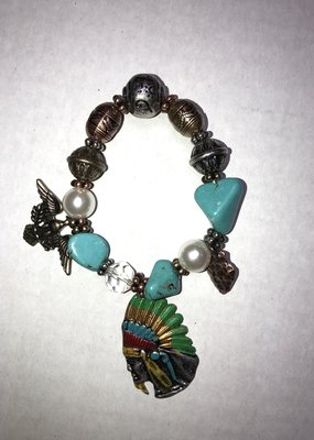J. S. Collections Indian Head Bracelet