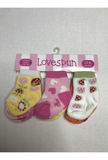 Lovespun Division Flowers & Hearts Socks