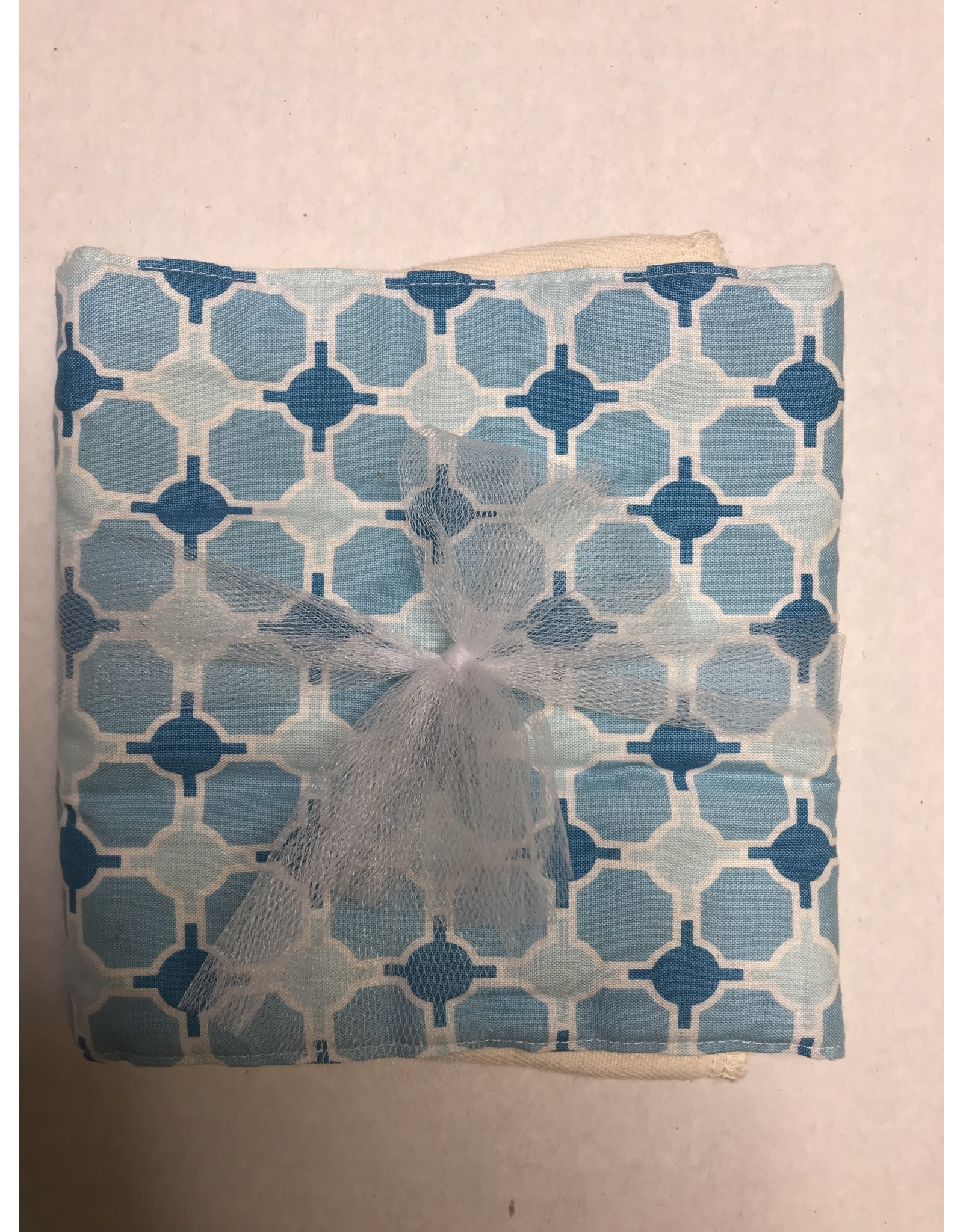 Rockin' AB Designs Blue Geometric Burp Cloth