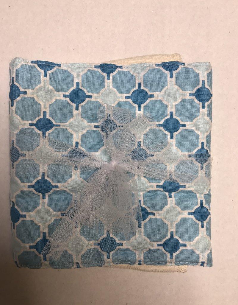 Rockin' AB Designs Blue Geometric Burp Cloth