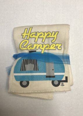 Rockin' AB Designs Happy Camper Burp Cloth