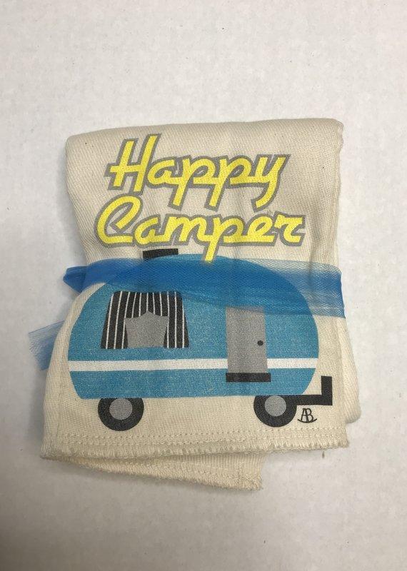 Rockin' AB Designs Happy Camper Burp Cloth