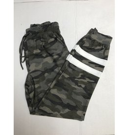 First Love Camo Joggers w/ Stripe