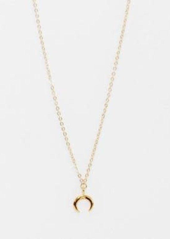 BB Lila Mini Crescent Necklace