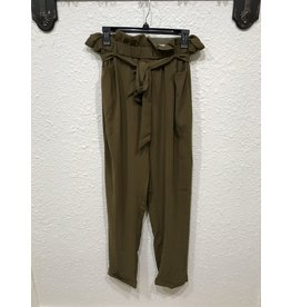 Ee:some Belted Paperbag Pants