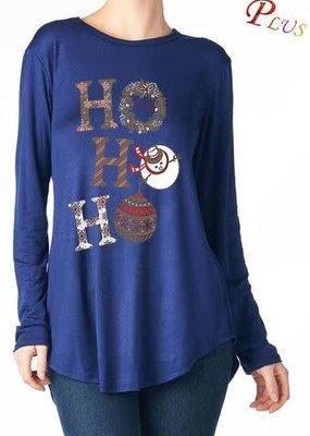 Salt Tree Ho Ho Ho Holiday Tee 2X