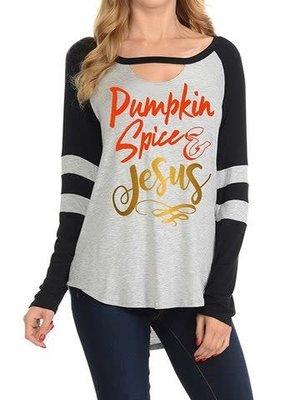 Light So Shine Pumpkin Spice & Jesus Top