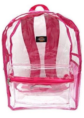Dickies Student Backpack- Clear Pink
