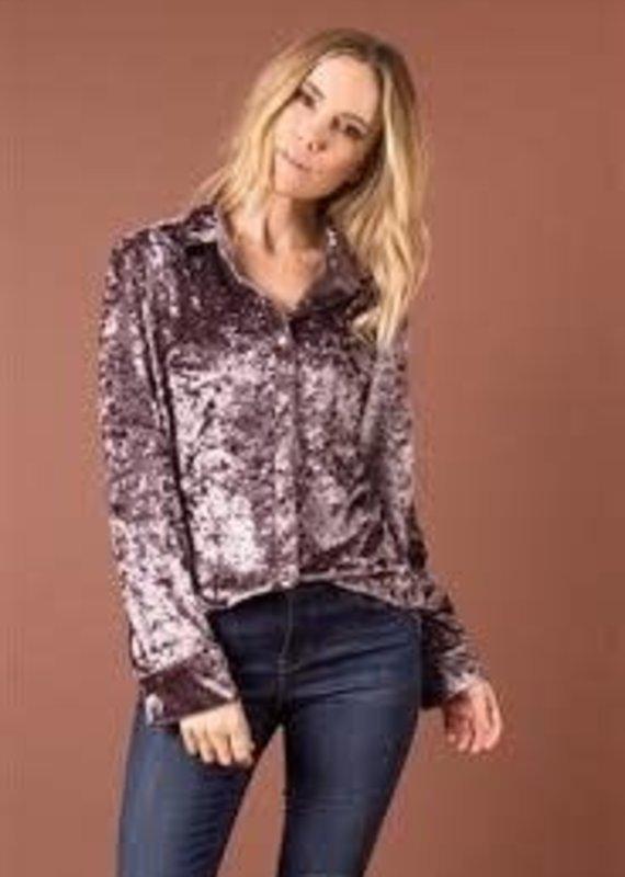Simply Noelle Crushin' It Velvet Embroidered L/XL