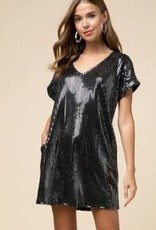 Entro Black Sequined Dress