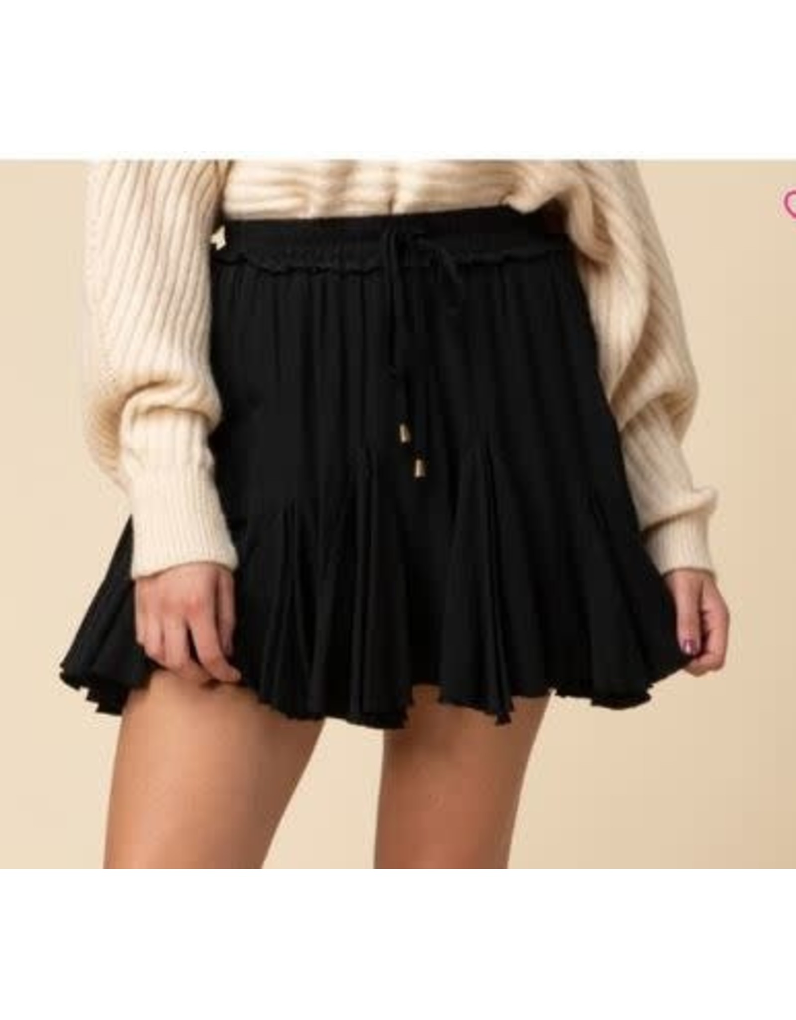 Entro Black Ruffle Skirt