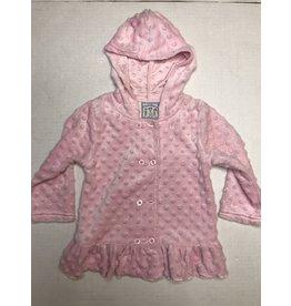 Three Sisters Pink Minky Girl Hooded Jacket 24M