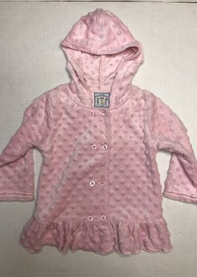 Three Sisters Pink Minky Girl Hooded Jacket 24M