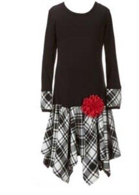 Bonnie Jean Black Plaid Dress