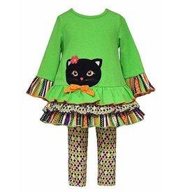 Bonnie Jean Black Cat Legging Set
