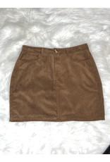 Juicy Gossip Corduroy Skirt-Rust S