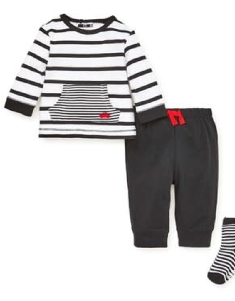 Little Me Car Stripe Jogger Set 9M