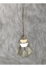The Burlap Sack Ivory Tassle Pendant