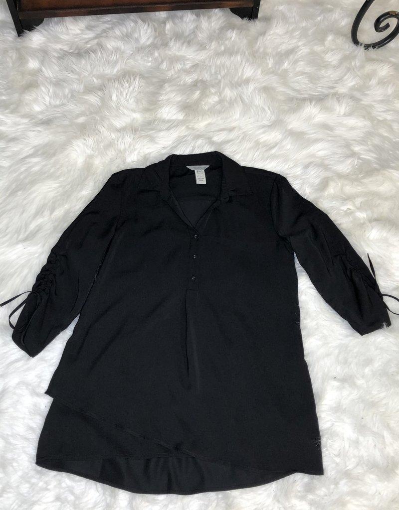 Jerell Clothing Company 3/4 Drawstring Faux Wrap Shirt